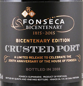 Fonseca Bicentary Crusted Port